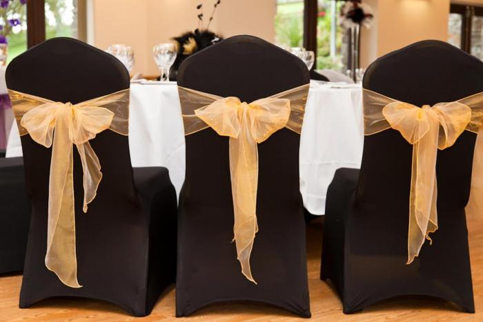Chair cover black chair cover gold sash hire chair cover hobart tasmania